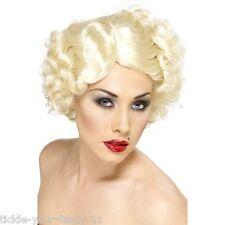 Da Donna Qualità 20's HOLLYWOOD icona Parrucca Corta Bionda Costume MARYLIN MONROE