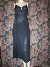 Vintage Olga Black Nylon Formal length Empire Slip Nighty Lingerie 34
