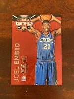 2014-15 Totally Certified Red Joel Embiid RC rookie card /279