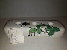 Royal Haeger Pottery Kate Nessler Candle holder Botanical Art Blackberry Flowers