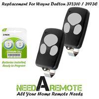2 Garage Door Remote for Wayne Dalton 372310 3973C 300643 Car Visor Clip Control