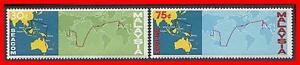 MALAYSIA 1967 TELEPHONE LINK SC#42-43 MNH MAPS, COMMUNICATIONS E13