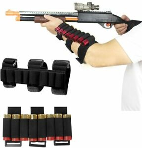 Tactical Military Hunting 8 Rounds Ammo Shotgun Shell Holder Bullet Arm Pouches