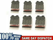 6 x RC Lipo Battery Low Voltage Alarm 1S-8S Buzzer Indicator Checker Tester LED
