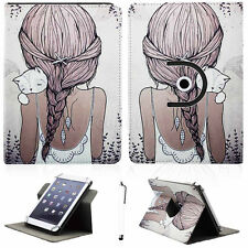 "360° Rotating Stand PU Leather Case Cover For Most 7"" 7.9"" Tablet PC+Stylus Gift"