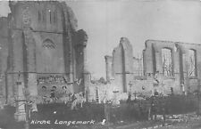 POSTCARD  MILITARY   WWI   BELGIUM    LANGEMARK  Church  after  the  Bombardment