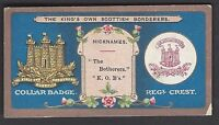 MITCHELL - REGIMENTAL CRESTS & COLLAR BADGES - THE KINGS OWN SCOTTISH BORDERERS