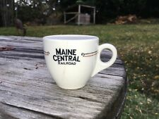 "Maine Central Railroad China Demitasse Cup ""Kennebec"" Pattern Scarce Original"