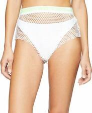 PUMA Women's x Fenty by Rihanna Mesh Bikini Bottom Bright White Small