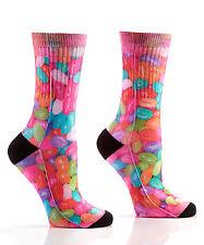 Yo Sox Graphic Print Womens Crew Socks Jellybean Design Capsule Edition