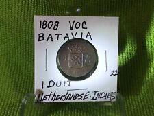 1808 VOC BATAVIA NETHERLANDS E. INDIES 1 DUIT