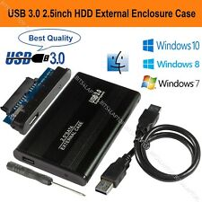 "2.5"" SATA to USB 3.0 Hard Drive Enclosure Caddy HDD Case For Windows & Mac Black"