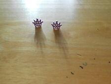 Kid's Earrings (new) CROWNS - PURPLE
