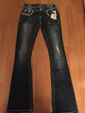 NWT MISS ME SIGNATURE BOOT DISTRESSED Jeans JP7256B  24X34 Retail $109.50