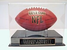 Football Display Case With A Clemson Tigers Engraved Nameplate For Your Football