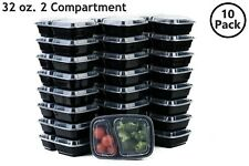 10 Set 32 Oz. Microwavable Food Containers with Lids BPA Free Reusable Meal Prep