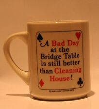 Bridge Coffee Mug Card Game Player 1989 Harriet Carter