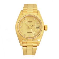 ROLEX Lady 18K Yellow Gold Factory Diamond President 69178 Box Warranty MINTY
