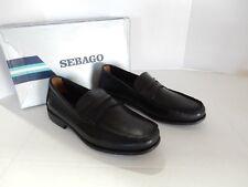 New Sebago Back Bay  Classic loafer men's Shoe black Leather Size 10M US/ 44 EU
