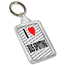 I Love Bus Spotting - Keyring - Gift - Birthday - Christmas
