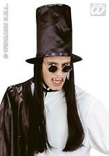 Tall Top Hat With Black Hair Vampire Slash Halloween Style Fancy Dress