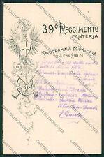 Bologna Militari Fanteria cartolina QQ9125