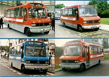 4 Bus Photos ~ Midland Red South: Mercedes Minibuses: RobinHood & Wrights 1990s