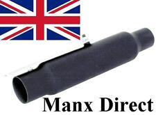 """WASSELL UNIVERSAL MOTORCYCLE BLACK 12"""" SHORTY SHORT EXHAUST PIPE SILENCER 38033"""