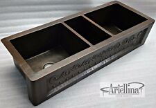 Ariellina Farmhouse 14 Gauge Triple Copper Kitchen Sink Lifetime Warranty AC1831
