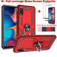 For Samsung Galaxy A10e Case Shockproof Armor Cover+Full Cover Screen Protector