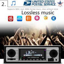 Bluetooth Vintage Car Radio MP3 Player Stereo USB AUX Classic Car Stereo Audio U