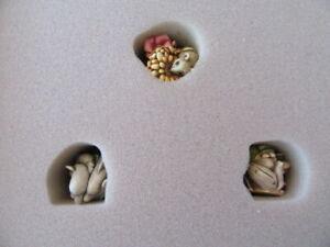 Harmony Kingdom Millennium Club Kit with 3 Miniature Treasure Box Figurines Mint