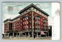 Battle Creek MI, Post Tavern, Michigan Vintage c1909 Postcard