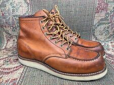 Red Wing Heritage 875 Classic Moc Toe Boots Mens Oro Legacy Sz US 8 E | UK 7