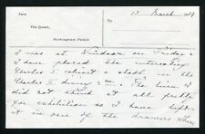 QUEEN MARY TO SIR CECIL HARCOURT-SMITH VICTORI & ALBERT MUSEUM 1935 MEMO