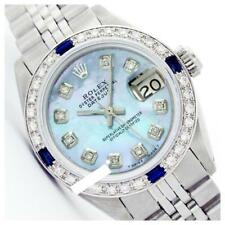 Rolex Ladies Stainless Steel, Diam Dial & Diam/Sapphire Bezel, Sapph... Lot 6204