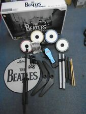 wii BEATLES ROCKBAND LIMITED PREMIUM EDITION Drum Kit + Microphone - NO DONGLE