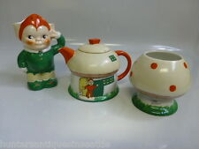 Rare 1926 Shelley Art Pottery Mabel Lucie Attwell Boo Boo Tea Set (Orange Pixie)