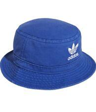 Adidas Unisex Originals Washed Forum Bucket Hat Cap Lush Royal Blue/White OSFA