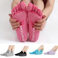 Eg _ Femme Sport Yoga Pilates 5 Orteils Chaussettes Exercice Massage Coton