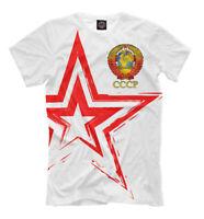 СССР NEW t-shirt USSR Soviet Union Retro Russia Moscow Star 313211