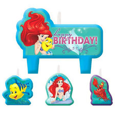 New Disney Little Mermaid 4-pc Birthday Cake Decorations Party Favors Supplies~