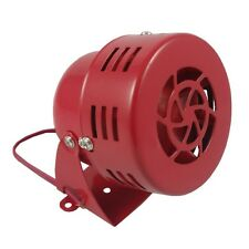 Red Air Raid Siren Horn Alarm Loud Electric Car Truck Motorcycle Driven 12V 50s