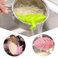 Küche Silikon Suppe Trichter Home Gadget Tools Wasserabweiser Blau M6N6