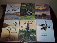1973 Ducks Unlimited 6 Magazine Lot Vintage Ads