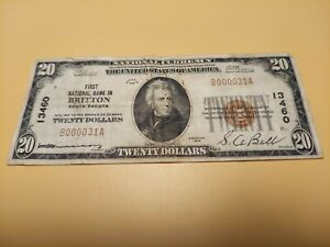 1929 Britton, South Dakota National Currency $20 Note (Charter No. 13460)