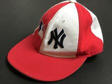 New York Yankees VINTAGE fitted baseball hat size small One of a Kind White Red