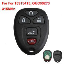 Remote Key Fob Keyless Entry Flip For 15913415 OUC60270 315MHz Key Start Control