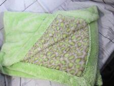 BH SILVER ONE BABY BRAND Fuzzy Green leopard Cheetah Baby Blanket