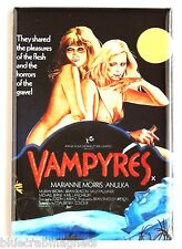 Vampyres FRIDGE MAGNET (2 x 3 inches) movie poster lesbian vampires nude